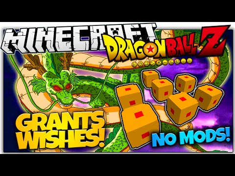 DRAGON BALL Z IN VANILLA MINECRAFT   WISH-GRANTING DRAGON!   No Mods (Minecraft Vanilla Mod)