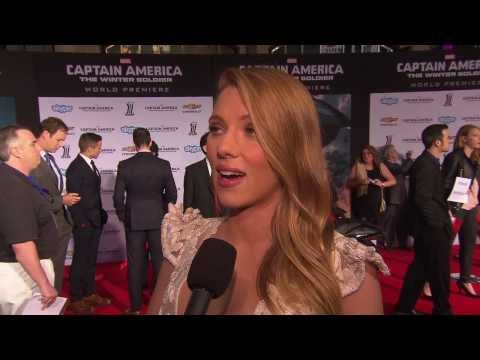 "Captain America: The Winter Soldier: Scarlett Johansson ""Black Widow"" Movie Premiere Interview"