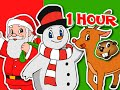 Merry Christmas Songs, Frosty, Santa, Rudolph, Jingle Bells & More | 1 Hour Compilation Busy Beavers