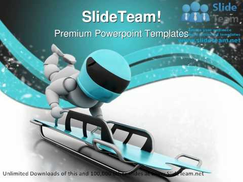 Sleigh Snow Sports PowerPoint Templates Themes And Backgrounds ppt layouts