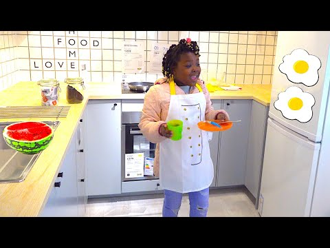 Toys AndFun sisters Pretend play cooking and shopping