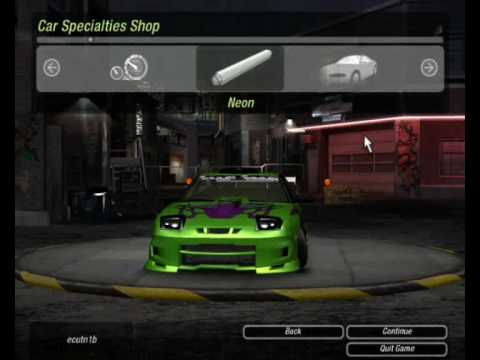 Need For Speed Underground 2 Nissan 240SX tuning