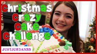 Christmas CRAZY CAKE Challenge / JustJordan33