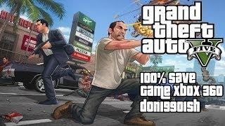 GTA V 5 100% Checklist Xbox 360 Save (Save Game/Save File