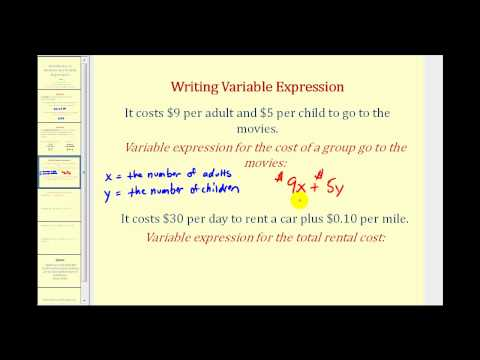 Introduction to Variables and Variable Expressions