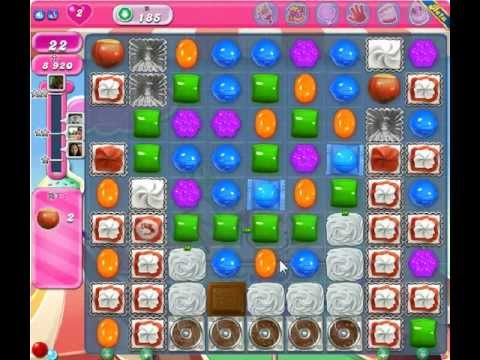 Candy Crush Saga Level 185 - 2 Star - no boosters - YouTube