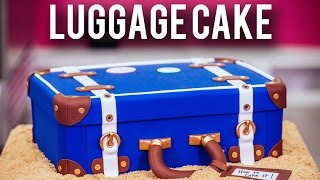 How To Make A LUGGAGE CAKE! Kick Off The New Year With Chocolate Cake & Three Types Of BUTTERCREAM!
