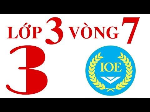 IOE Olympic Tiếng Anh lớp 3 vòng 7 năm 2014-2015