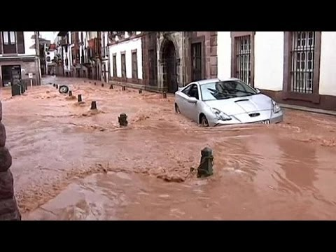 Holiday mood sinks in northern Spain as a level one flood alert is declared