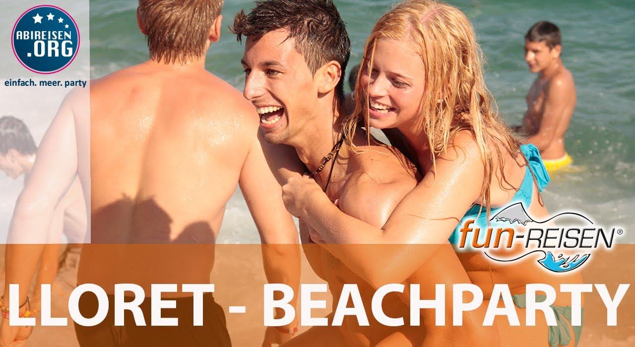 fun reisen lloret beach party youtube. Black Bedroom Furniture Sets. Home Design Ideas