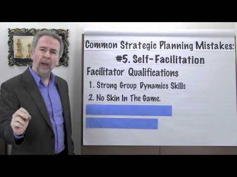 Strategic Planning Mistakes: #5 - Engaging in Self-Facilitation - Project Management Video