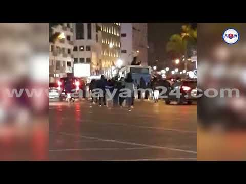 """شاهد: مشهد مفاجئ وقع بالمعاريف بعد مباراة المغرب في """"الشان"""""""