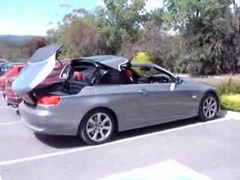 bmw  hardtop convertible roof closing youtube
