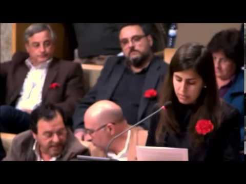 """2014/04/23 - Alexandra Domingos apresenta a moção """"Pela defesa do Serviço Nacional de Saúde"""""""