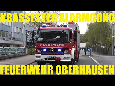 [Krassester Alarmgong] + Schicker Löschzug BF Oberhausen FW 1 (HD)