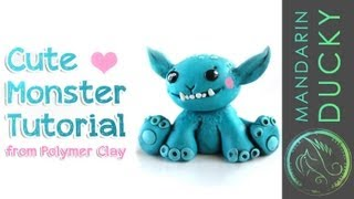 MAKE A CUTE MONSTER Diy Tutorial From Polymer Clay