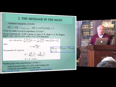 Luciano Maiani, The post-Higgs MSSM scenario - 19 December 2013