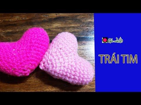 Góc của Út - Hướng dẫn móc len cơ bản : Crochet : Trái tim