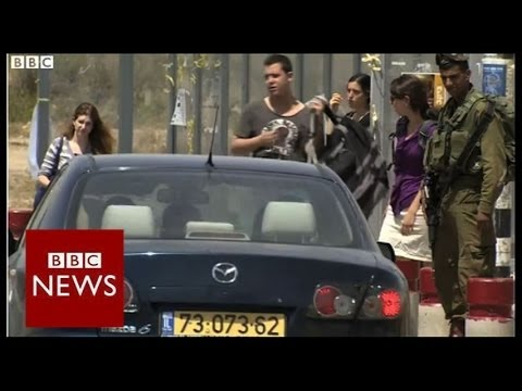 On the road where Israeli teenagers went missing - BBC News