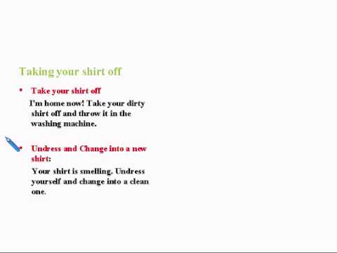 Learning Basic English Lesson 7: Shirts