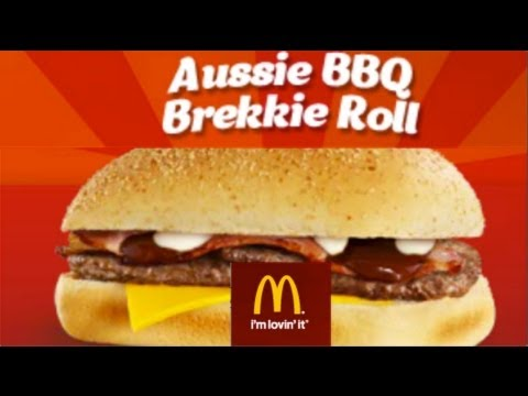 McDonalds BBQ Breakfast Roll - An Australia Day Breakfast - Taste Test Review