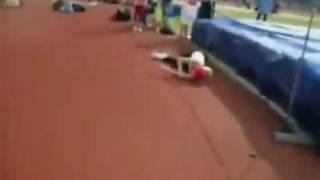 Salto de altura fallido