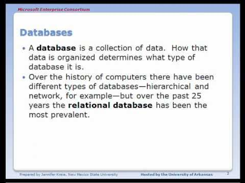 MEC Database Fundamentals (1 of 10): Introduction to relational databases