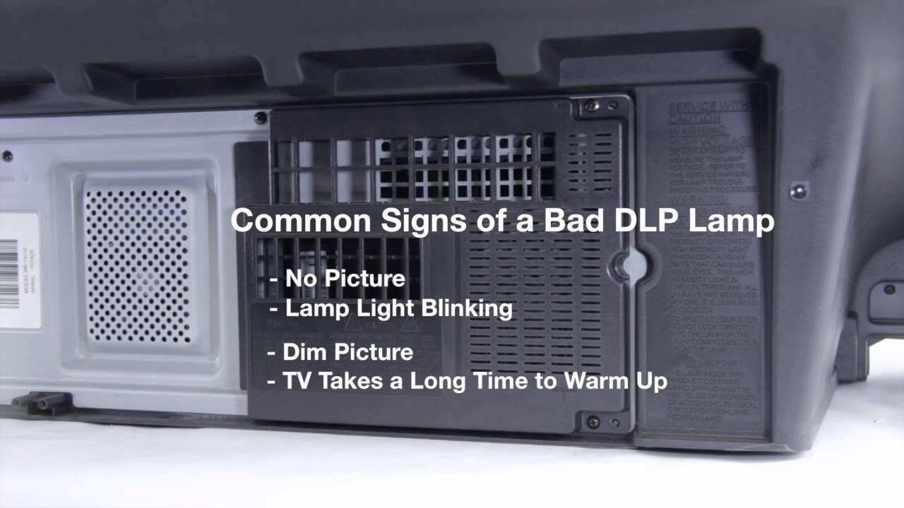 mitsubishi dlp tv repair bad dlp lamp how to fix common dlp lamp. Black Bedroom Furniture Sets. Home Design Ideas