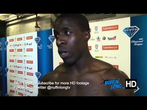 Dwain Chambers post interview | Sainsburys Anniversary Games - by Nuffin'Long TV