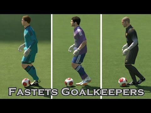 Fastest Goalkeepers in Pes 2014 - Speed Test Manuel Neuer vs Iker Casillas vs Victor Valdes