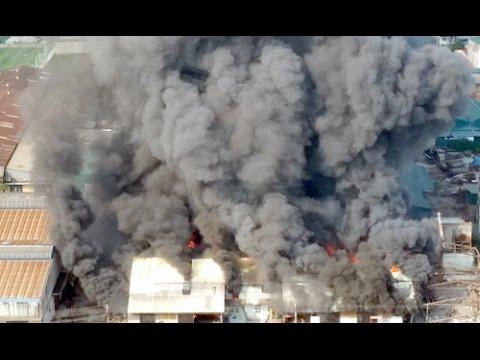 Cháy lớn tại xưởng gỗ của Công ty Lâm sản Giáp Bát 30/10/2014