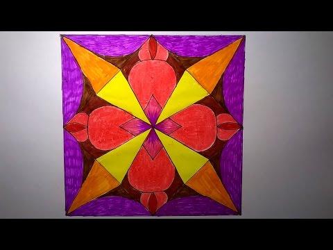 Trang trí hình vuông lớp 4_ Trang trí hình vuông đơn giản_ Trang trí hình vuông_Square