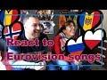 React to Eurovision songs 2018 MOLDOVA NORWAY POLAND ROMANIA RUSSIA