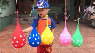 Finger Family for Learn Colors with Balloons | The Surprise For Kids