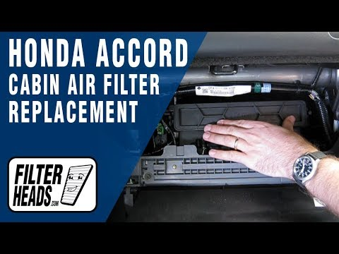 Cabin air filter replacement- Honda Accord - YouTube