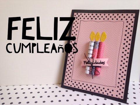 TUTORIAL Tarjeta de feliz cumpleaños FÁCIL/DIY EASY Happy Birthday Card