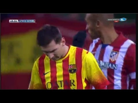 Atlético  vs Barcelona (0-0) Highlights 11.01.2014 | Atletico 0-0 Barcelona Resumen