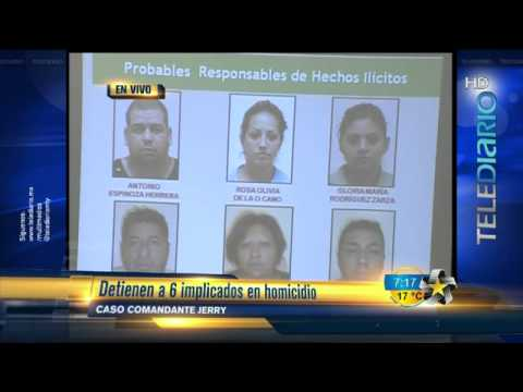 Presentan a 6 implicados en el caso del comandante 'Jerry'