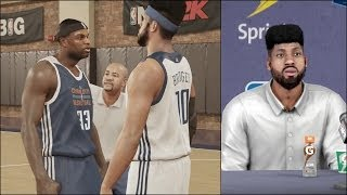 NBA 2k14 MyCAREER PS4 Gameplay Bridges Fighting In