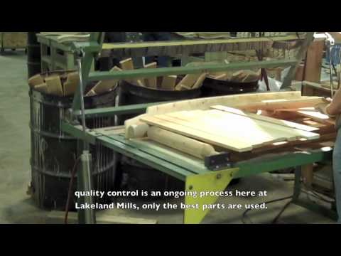 Factory Tour of Log Furniture Manufacturer Lakeland Mills, Inc