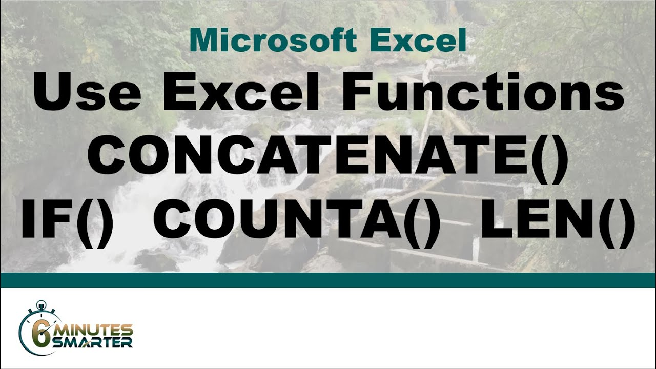 how to use concatenate function in excel 2010