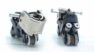 Mini moto con dos encendedores