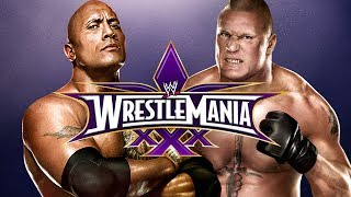 WWE 2K14 The Rock Vs Brock Lesnar At Wrestlemania 30