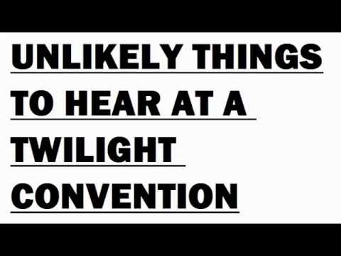 Unlikely Things To Hear At A Twilight Convention. Whose Line Is It Anyway game. Funny Video Comedy