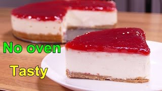 tasty No bake cheesecake - easy food desserts to make at home