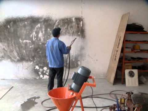 Maquina para hacer friso de cemento al pared 4