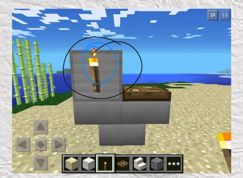 Minecraft PE: How to build bathroom furniture - YouTube