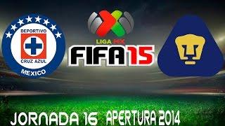 Cruz Azul Vs Pumas Simulacion Liga Mx Jrnada 16