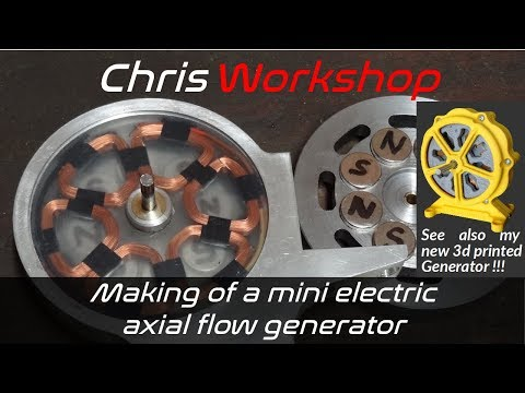 How to make an electric axial flux alternator - DIY