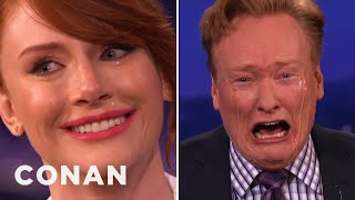 Conan Learns to Cry Spontaneous with Bryce Dallas Howard
